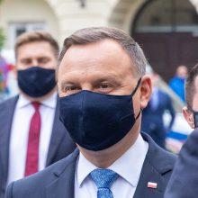 Lenkijos prezidentui A. Dudai nustatytas COVID-19
