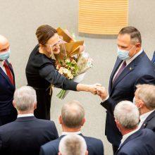 Jau aišku, kokias veiklos sritis kuruos Seimo pirmininkės pavaduotojai