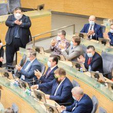 Konservatoriai ragina neblokuoti galimybės Seimui dirbti nuotoliniu būdu