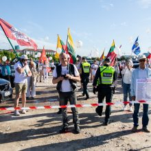 Šeimos maršo protesto akcija prie Seimo tęsiasi: mitinguotojų gretos išretėjo