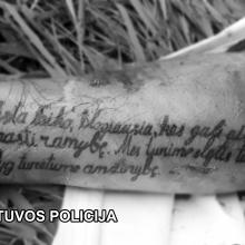 Prašo padėti atpažinti mirusį vyrą: ypatingas požymis – tatuiruotė