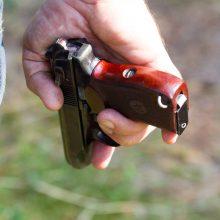 Širvintose vyras dujiniu pistoletu šovė moteriai į veidą