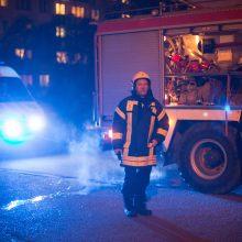 Naktį Taikos prospekto daugiabutyje kilo gaisras (papildyta)
