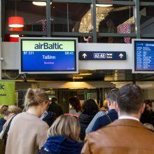 """""""Air Baltic"""" leista atnaujinti skrydžius iš Vilniaus į Rygą ir Taliną"""