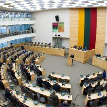 Seime bus atnaujinta posėdžių salės įranga
