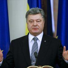 P. Porošenka: Ukraina turi sinchronizuoti sankcijų Rusijai režimą su JAV