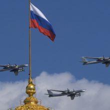 Incidentas: JAV naikintuvai perėmė kelis Rusijos bombonešius ir naikintuvus