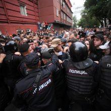 """Rusijoje – protestai: žmonės skandavo """"Mes čia valdžia!"""" ir """"Putinas – vagis!"""""""