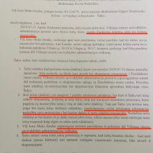 A. Zuokas paviešino savivaldybės administracijos direktoriaus pateiktą susitarimo projektą