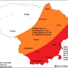 Sinoptikai įspėja: vakare ir naktį dalį Lietuvos skandins liūtys