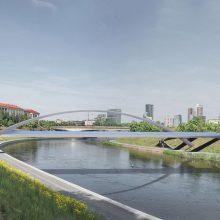Aiškėja vaizdas, kaip atrodys naujas pėsčiųjų tiltas Vilniaus centre