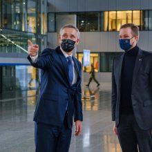 G. Landsbergis su NATO vadovu aptarė Baltijos šalių saugumo klausimus