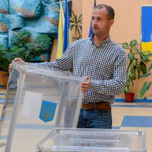 Lietuvoje balsuojantys ukrainiečiai nori gyventi kaip europiečiai