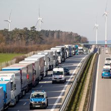Vokietijos ir Lenkijos pasienyje įstrigę lietuviai blokuoja kelią