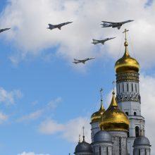 NATO naikintuvai lydėjo Rusijos bombonešius ir naikintuvus