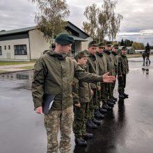 Tarnybą kariuomenėje pradėjo daugiau nei tūkstantis šauktinių