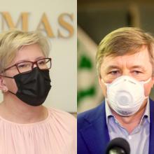 Premjerė atsakė R. Karbauskiui, ar priims šešėlinės Vyriausybės pagalbą
