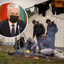 G. Nausėda žada kreiptis į EVT: siūlys keisti ES migracijos politiką
