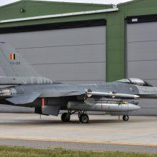 Belgija ir Danija perima NATO oro policijos pamainą Šiauliuose