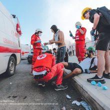 Raudonasis Kryžius kviečia padėti nukentėjusiems nuo sprogimų Beirute
