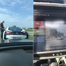 Policija pajūryje pristabdė skraidūną su BMW: čia ne autobanas