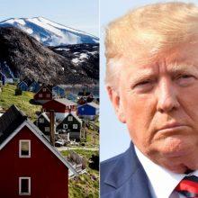 D. Trumpas supyko ant Danijos, kad nenori parduoti Grenlandijos