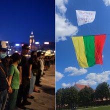 Vilniuje paramos akciją Honkongui temdė konfliktas su Pekino rėmėjais