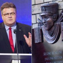 L. Linkevičius: pakabinusieji J. Noreikos lentą kenkia Lietuvai