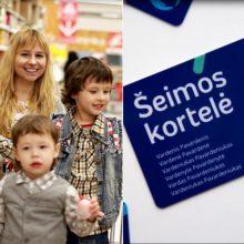 Pradeda galioti nuolaidos turintiems šeimos korteles