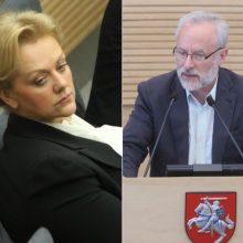 J. Razma siūlo tyrimą dėl I. Rozovos patikėti laikinajai tyrimo komisijai