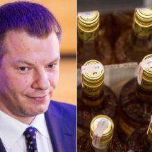 V. Šapoka nesibaimina mažesnių alkoholio akcizų Estijoje ir Latvijoje