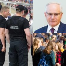 Ministras siūlo mokykloms samdyti saugos tarnybas