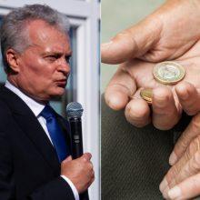 G. Nausėda siūlo papildomus 100 mln. eurų skurdui mažinti