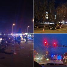 Kaune – didelė avarija: sulėkė medikai, policija ir ugniagesiai