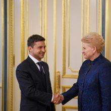 Prezidentės patarėjas: V. Zelenskio ryžtas rodo, kad jis – ne tik serialo herojus