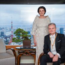 G. Nausėda sveikina į sostą įžengusį naująjį Japonijos imperatorių