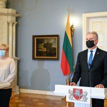 G. Nausėda patvirtino I. Šimonytės vadovaujamą naują Vyriausybę