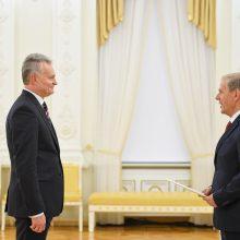 G. Nausėda priėmė ambasadorių skiriamuosius raštus