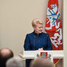 D. Grybauskaitė: Lietuva turi skleisti Vakarų vertybes