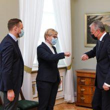 G. Nausėda linki sėkmės I. Šimonytei imantis vadovauti būsimai Vyriausybei