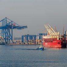 Dėl sustiprėjusio vėjo Klaipėdos uoste ribojama laivyba