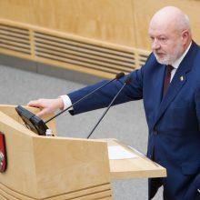 E. Gentvilas užleido Seimo frakcijos seniūno pareigas