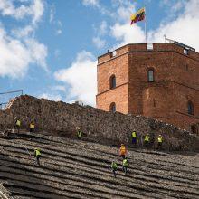 FNTT: Gedimino kalną rekonstravo nelegalūs darbininkai iš Ukrainos ir Baltarusijos