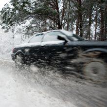 Rinkitės saugų greitį: rajoniniai keliai – provėžoti, padengti sniegu