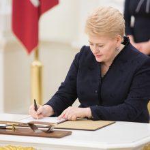 Prezidentė pasirašė pataisas dėl individualaus kreipimosi į KT