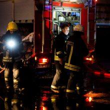 Vilniaus rajone degė namas
