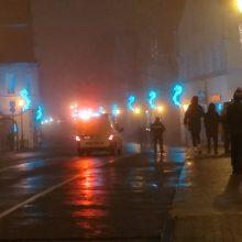 Naujametę naktį Klaipėdoje nelaimės ir smurtas prasidėjo po vidurnakčio