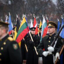 Kariuomenės dienos proga suplevėsuos visų keturių pajėgų vėliavos