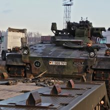 NATO bataliono specialistai treniravosi gabenti karines atsargas į Lietuvą
