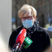 I. Šimonytė po gegužės 3-iosios žada daugiau atlaisvinimų su neigiamu COVID-19 testu